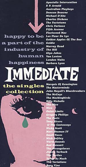 Cover der Label Compilation / 6-CD-Box The Immediate Singles Collection. Happy To Be A Part Of The Industry Of Human Happiness