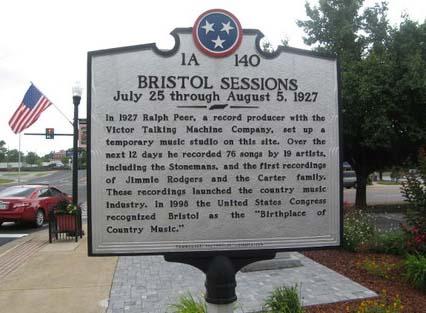 Schautafel zu den Bristol Sessions